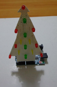 Arduino shield, shaped as Christmas tree