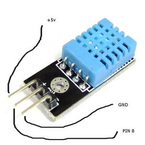 Connessione sensore DHT11
