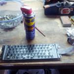 Tastiera - pulizia con Wd40