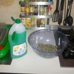 Lavaggio tasti con detersivo