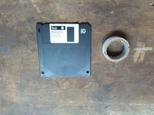Macintosh Plus - floppy disk hack
